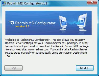 Radmin MSI Configurator
